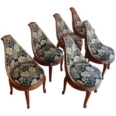 Set of Six Mahogany Chairs by Sue et Mare, 1925