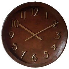 Very Large Copper Vintage Wall Clock
