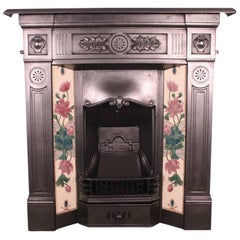 'The Prince' an Antique Late Victorian Cast Iron Combination Fireplace