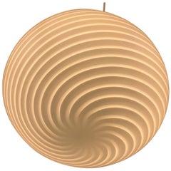 Venini Murano Glass Globe Pendant, 1970