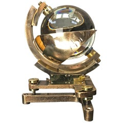1940s Campbell Stokes British Cast Bronze, Brass and Glass Sunshine Recorder