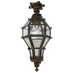 20th Century Large Bronze Lantern