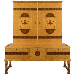 Finely Crafted Swedish Art Deco Cabinet