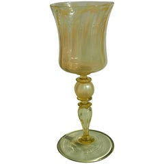 Louis Comfort Tiffany Straw Opal Art Nouveau Favrile Wine Glass
