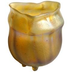 L C Tiffany Art Nouveau Near Miniature Special Order Favrile Vase