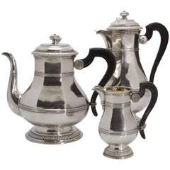 Regency Style Antique Sterling Silver Tea and Coffee Set by Cardeilhac