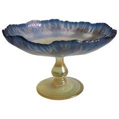 L C Tiffany Art Nouveau Blue and Opal Pastel Favrile Compote