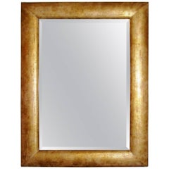 Italian Dirty Gold Color Midcentury Mirror
