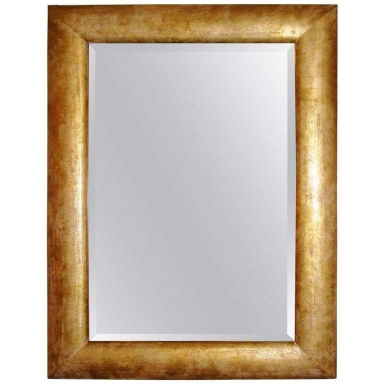 Italian Dirty Gold Color Midcentury Mirror