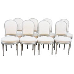 Set of 16 French Louis XVI Style Dining Chairs
