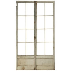 Antique Pair of French Doors in Original Paint, Unrestored