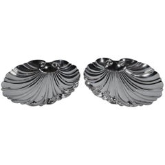 Pair of Spanish Silver Classic Scallop Shells