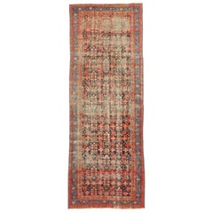 Distressed Antique Malayer Persian Rug, Wide Hallway Runner