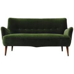 Gorgeous Theo Ruth Emerald Green Velvet Sofa