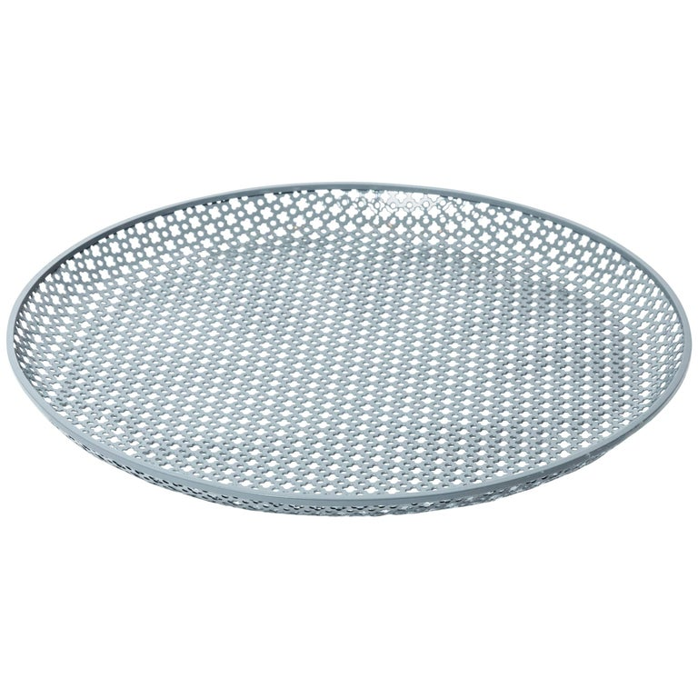 Perforated Enameled Platter by Mathieu Matégot For Sale