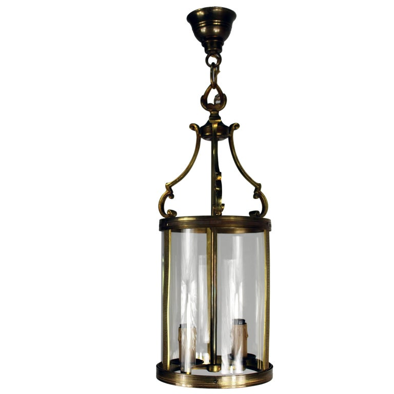 French Brass Lantern, 1950s