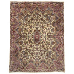 Antique Persian Kerman Rug with Traditional Style, Persian Kirman Rug
