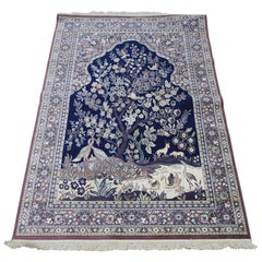 Mid-20th Century Silk Tapestry Rug