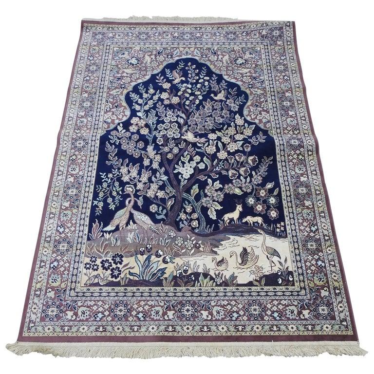Mid-20th Century Silk Tapestry Rug