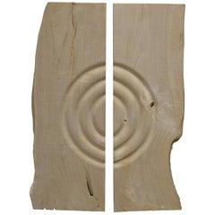 Andrianna Shamaris Bleached Teak Wood Minimalist Panel