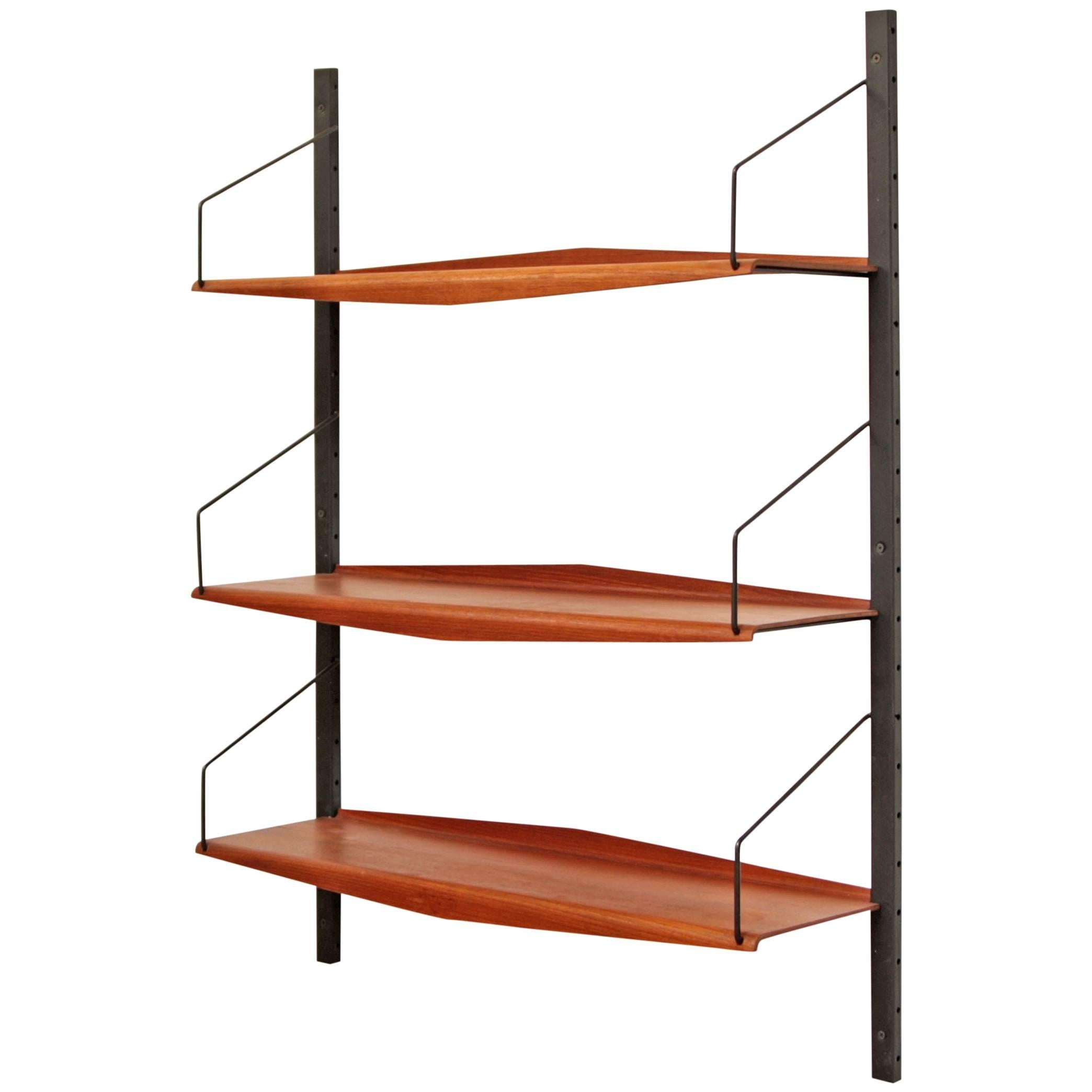 Awesome Danish Wall Unit Teak Bookshelf With Teak Bookshelves