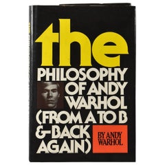 The Philosophy of Andy Warhol from A to B & Back Again Signed Andy Warhol Book