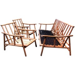 Pair of Lounge Chairs and Sofa by John Wisner for Ficks Reed