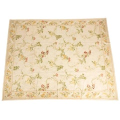 French Aubusson Wool Rug