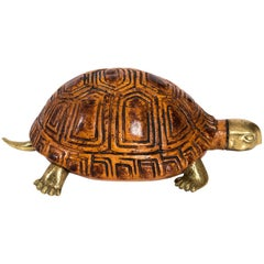 Wood and Brass Turtle by Sarreid LTD