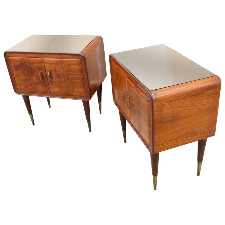 Pair of Italian Nightstands For Sale