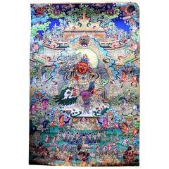 Tibetan Thangka Painting Dorje Drolo, Hand-Painted Thanka