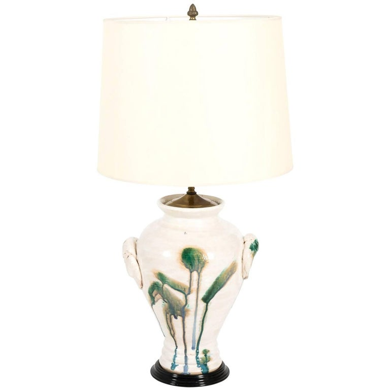 Drip Glaze Pottery Lamp