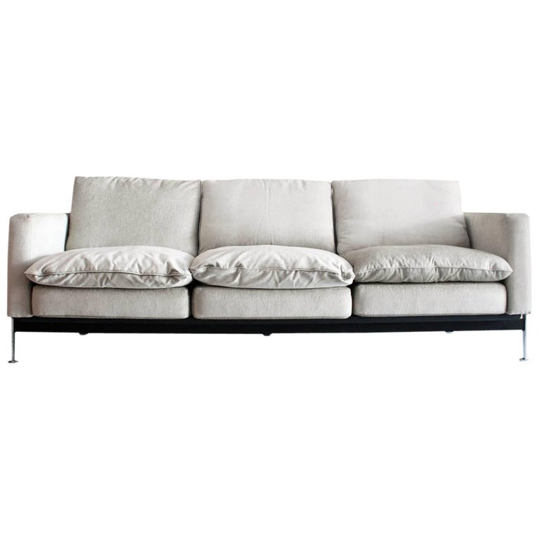Haussmann for De Sede Sofa in Newly Upholstered Mohair Fabric