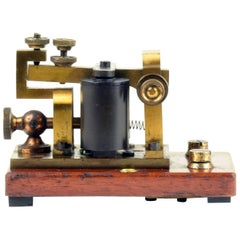British GPO Morse Code Sounder, Pre 1880s, Beautiful Collector's Desktop Object