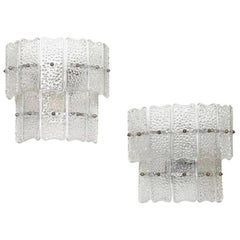 Pair of Italian Murano Glass Wall Lamps from circa 1960