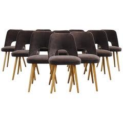 Set of Ten Thonet Barrel Chairs