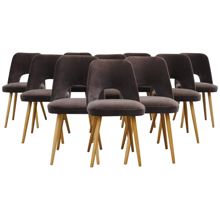 Set of Ten Thonet Barrel Chairs For Sale