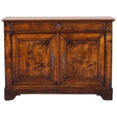 Antique French Louis Philippe Walnut Buffet Credenza, France, circa 1850