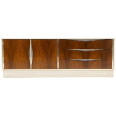 Large White and Rosewood Six-Drawer Dresser by Milo Baughman for Thayer Coggin