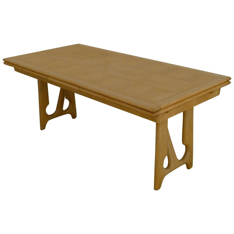 """Dining Table by Guillerme et Chambron, """"A l'Italienne"""" For Sale"""