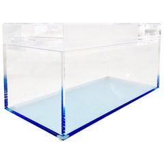 Contemporary Lucite Lidded Blue Box By, Alexandra Von Furstenberg
