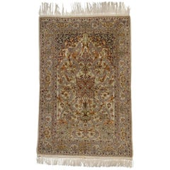 Vintage Persian Isfahan Prayer Rug