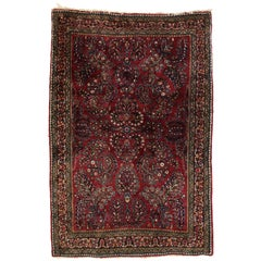 Antique Persian Sarouk Rug with Art Nouveau Style