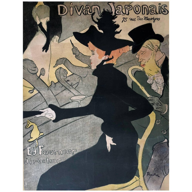 """Divan Japonais"" by Henri Toulouse-Lautrec, 1893 For Sale"