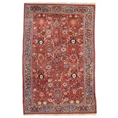 Vintage Persian Mahal Rug with Traditional Style