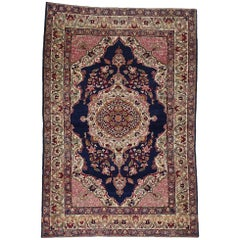 Antique Persian Kermanshah Accent Rug with Traditional Style