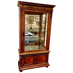 Fine Quality French Neoclassical Style Walnut Showcase