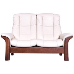 Ekornes Stressless Relax Sofa Crème Leather TV Recliner Two-Seat