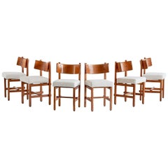 Set of Six Oak Dining Chairs by Simon Packo, Blankenberge, Belgium, 1972