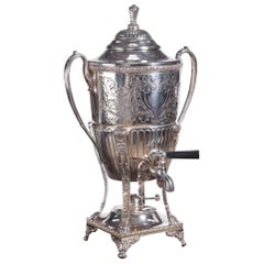 Outstanding Antique Silver Plated Samovar